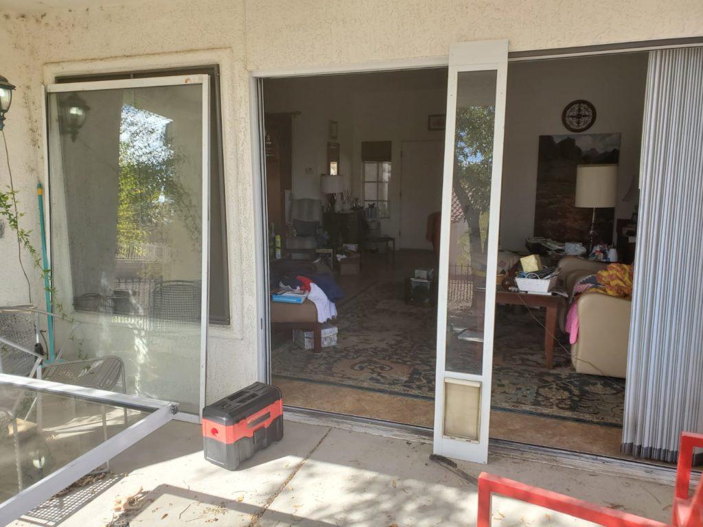 fixing sliding door